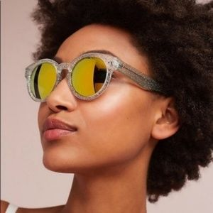 Anthropologie Accessories - Anthro Mirrored Round Goldie Sunglasses Silver
